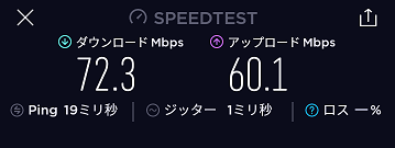 ドムドムハンバーガーのフリーWiFi速度5GHz