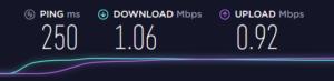 WiMAX速度制限後のPCでの実行速度
